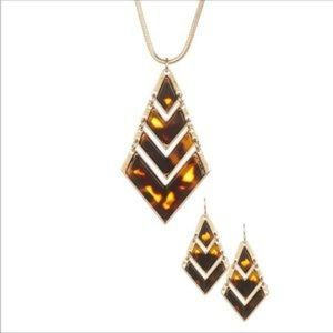 T&J Designs Chevron Necklace and Earrings Set